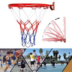 BESPORTBLE Filet de Basket-Ball de Remplacement de Sport Nylon Tress/é Standard 12 Boucles Filet de Basket-Ball
