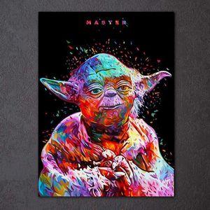 TABLEAU - TOILE Imprimé 1 panneau toile peinture Star Wars abstrai