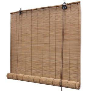 STORE DE FENÊTRE P42 Store enrouleur bambou brun 100 x 160 cm