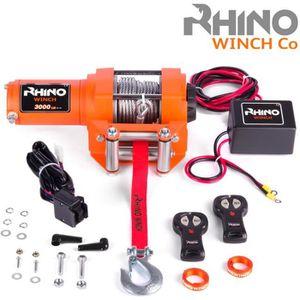TREUIL AUTO Rhino Treuil 12v Électriques 3000lb / 1360kg - Câb