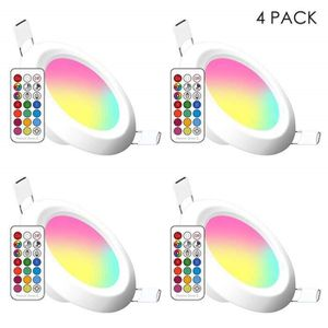 PLAFONNIER Spots LED Encastrables, 11 Couleurs Dimmable RGB P