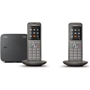 Téléphone fixe Gigaset CL660 Duo Anthracite - Téléphone DECT - Pa