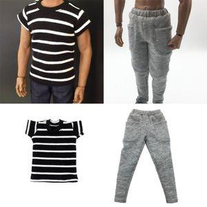 1:6 Scale TRENDY Veste à capuche T-shirt pantalon Set Pour 12 pouces mâle Action Figure