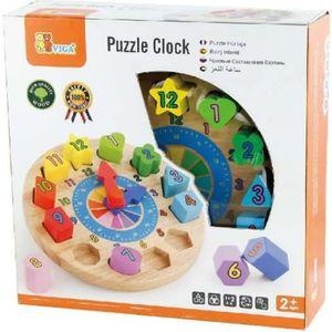 BOÎTE À FORME - GIGOGNE Horloge trieur de forme jouet en bois bébé enfant