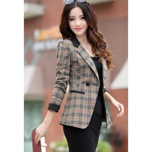 femme slim veste blouson blazer manteau carreaux costume. Black Bedroom Furniture Sets. Home Design Ideas