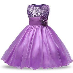 Robe De Ceremonie Fille Violette Achat Vente Pas Cher