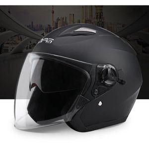 CASQUE MOTO SCOOTER Casque pour moto et scooter Demi Jet homologué ave