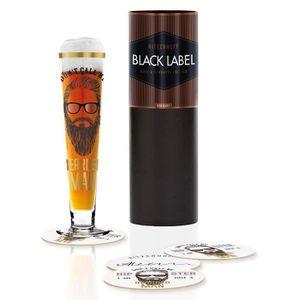 BIÈRE Ritzenhoff 1010235Black Label Verre à bière, Verr