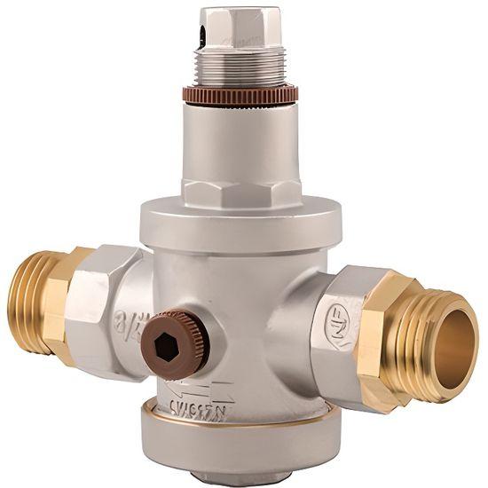 Robinet r/éducteur de pression de r/égulateur de pression deau en laiton r/églable DN20 avec jauge de calibre