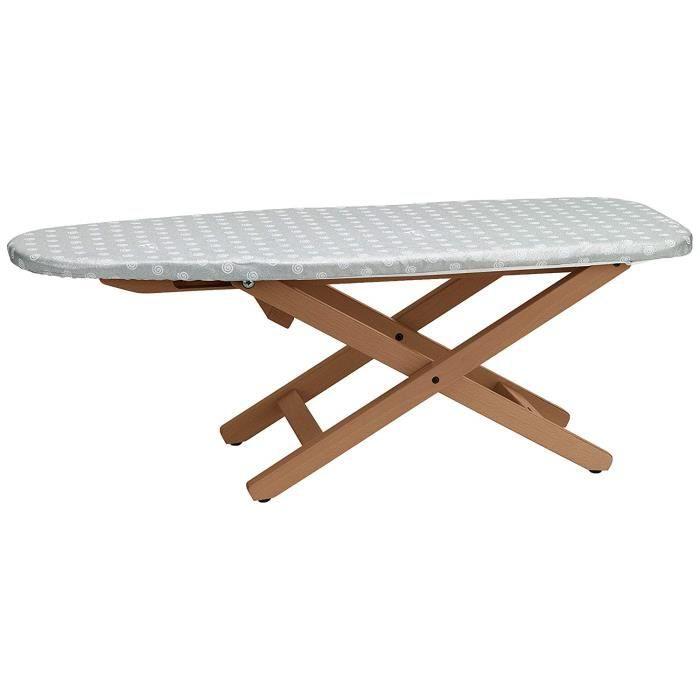 Arredamenti Italia Table à repasser MINISTYRO, Bois - Pliable - Réglable - Portable - Coleur: Bois Merisier -Ar-It il cuore del legn