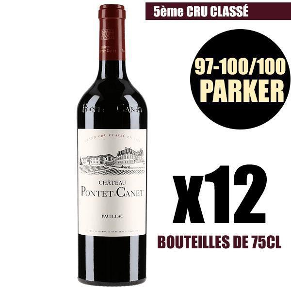 X12 Château Pontet-Canet 2009 75 cl AOC Pauillac 5ème Cru Classé Vin Rouge Vin Biologique
