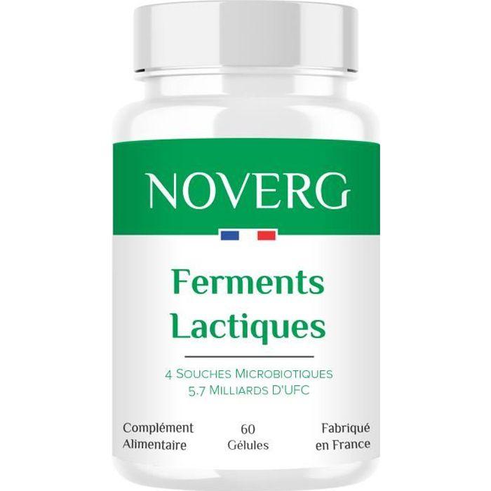 Probiotiques - 4 Souches dont 2 Lactobacillus - 5.7 Milliards D'UFC - Digestion, Transit, Immunité - Vegan - Fabriqué en France