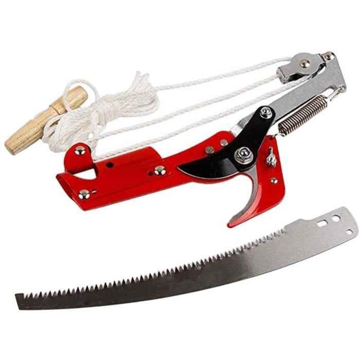 Sécateur télescopique pour arbre de coupe extensible, lame de scie de jardin, coupe-engrenages, outil d'élagage à main extensible
