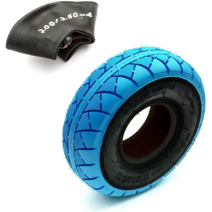 25.4cm Pneu & Intérieur Tube 4.10/3.50-4 Mini BMX Vélo Bicyclette Bleu et Noir Chape 4'' Jante