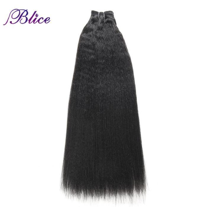 #27 24 pouces -Extensions cheveux, tissage synthétique, lisse ou crépu de 10 à 24 pouces, Super extensions capillaires, mèches de c