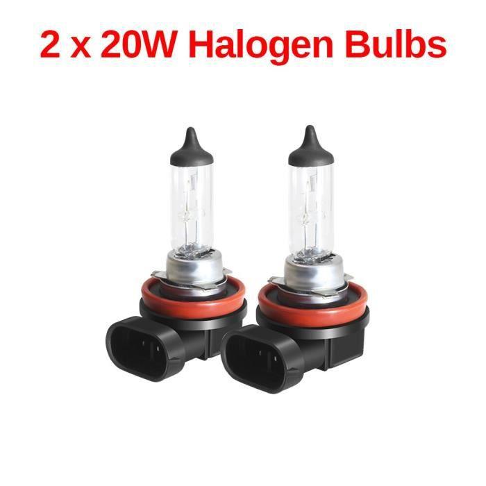 2 Piece Halogen Bulb -Phare antibrouillard œil d'ange pour voiture, anneau Halo DRL pour Renault Clio Laguna Modus Thalia Master