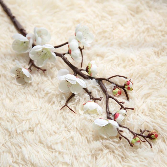 Fleur de fleur artificielle, Branches d'arbre, cerisier, prune et pêche, en soie de 60cm, bourgeon d'arbre à fleurs pour - 2