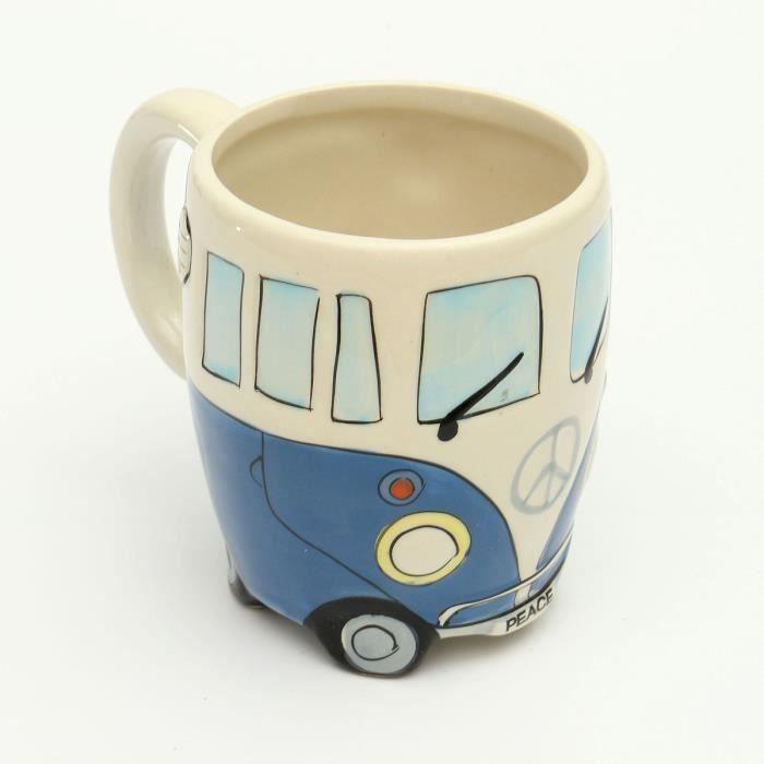 Mug Tasse Céramique Forme Autobus BLEU Hot21075