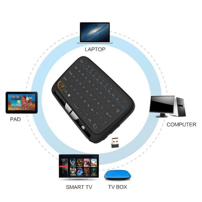 2.4G H18 mini clavier sans fil [QWERTY] - souris air touchpad pour Android TV Box