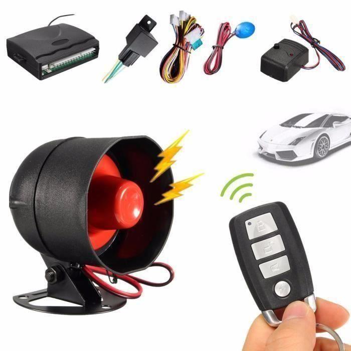 BK Universel Voiture Alarme Vibration Sirène Système Sécurité Klaxon+2 Télécommande @HTP