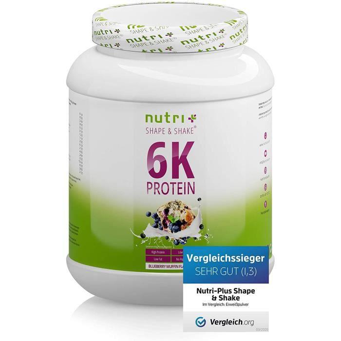 MUFFIN AUX MYRTILLES POUDRE DE PROTÉINE 1kg - Nutri-Plus Shape & Shake Blueberry Muffin - Protein Mix - multi-composant mélange 135