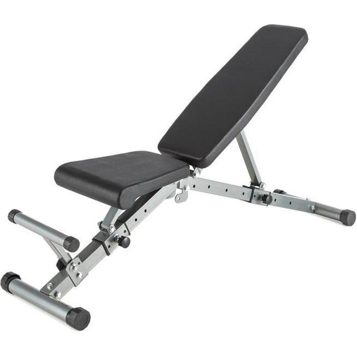CAPITAL SPORTS Flaptor - Banc de musculation pliable abdominaux et dorsaux - Banc d'entraînement avec 21 positions réglables - noir