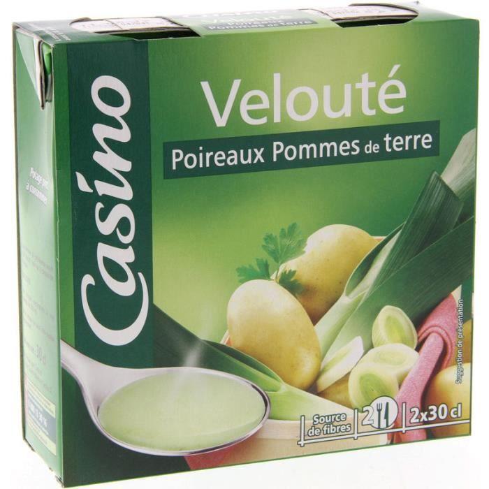 CASINO Velouté poireaux pommes de terre - 2x30 cl