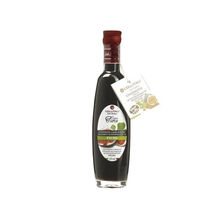 COLLITALI Bouteille -poignée design- FIORE vinaigre balsamique aromatisation naturelle figue - 125 ml