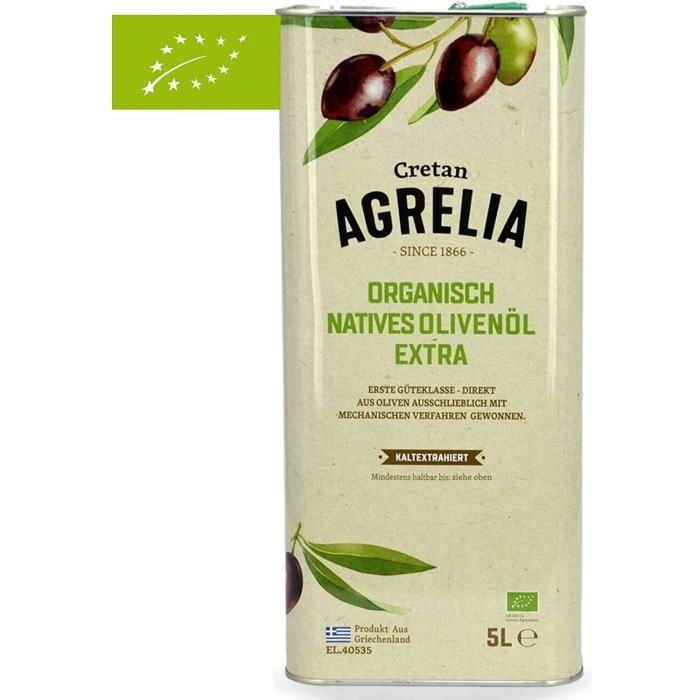Huile d'olive 5l Bio Grèce - vierge extra monovariétales - première pression - RECOLTE DE NOVEMBRE 2020