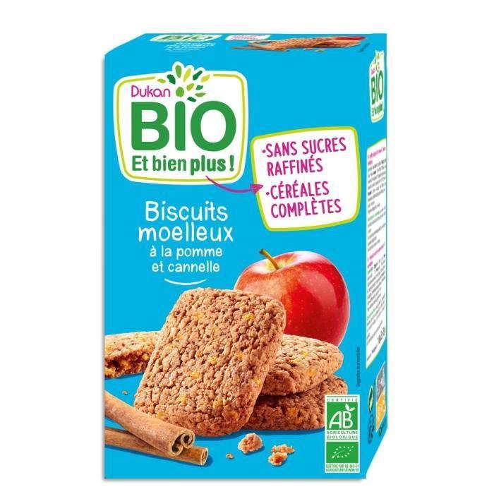DUKAN Biscuits moelleux Bio à la pomme et cannelle - 150 g
