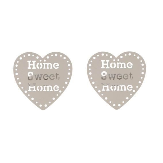 Lot de 2 pinces Sweet home Taupe