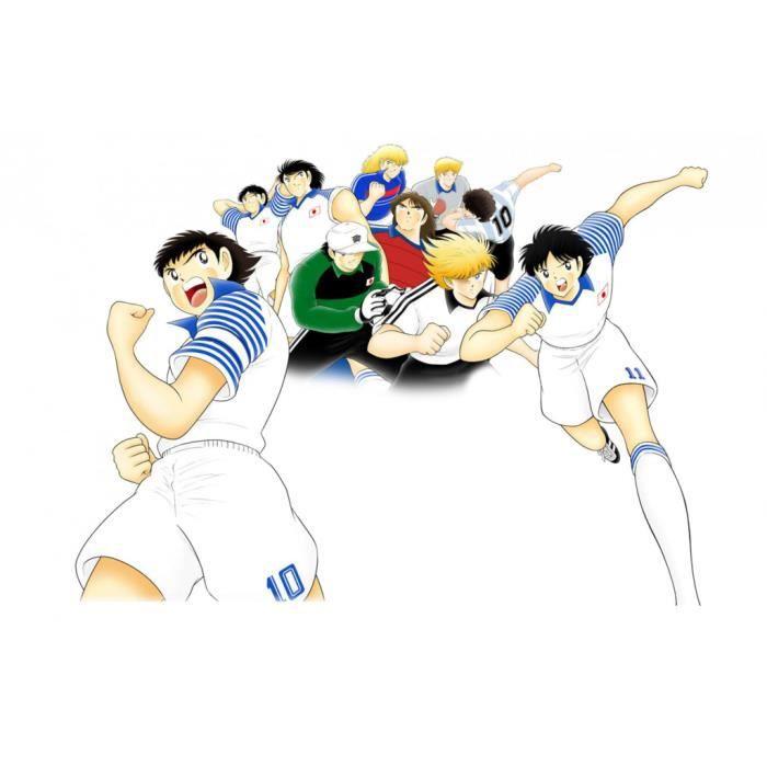 Poster Affiche Olive et Tom Equipe Captain Tsubasa Manga Cartoon Football 31cm x 48cm