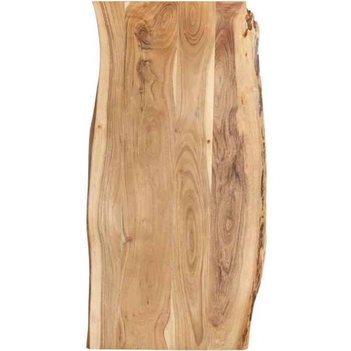 Dessus de table Bois d'acacia massif 120x60x2,5 cm-XIC