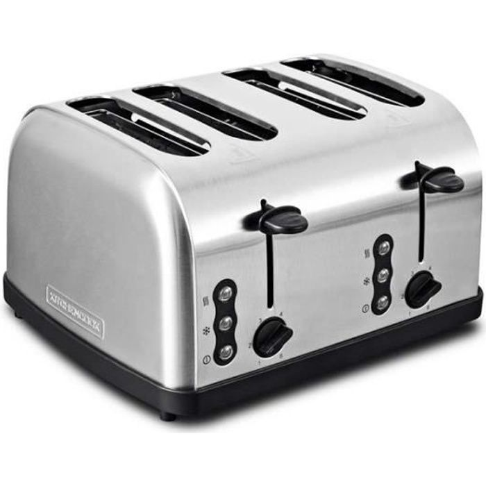 Grille Pain Inox 3 Fonctions Quatre Fentes Family_toastxl_inox De Kitchencook