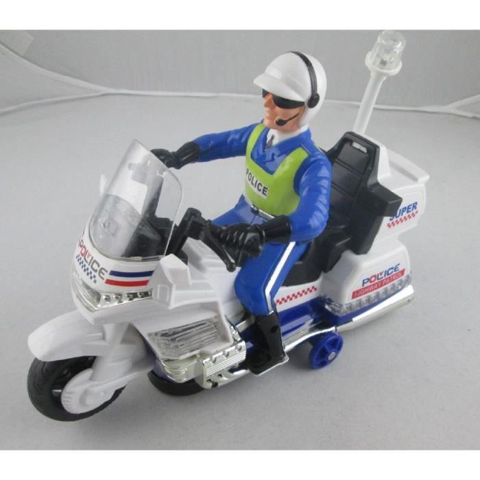 Moto de police musical et lumineuse pour enfant