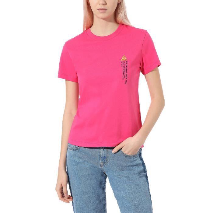 Vans T-Shirt pour Femme 66 Supply Boyfriend Rose VN0A4SCXZL0