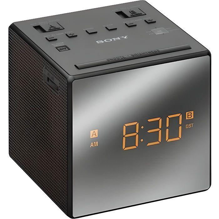 SONY ICFC1TB.CED - Radio réveil avec projection de l'heure-Tuner digital-Chargeur de téléphone-Batterie de secours-Noir