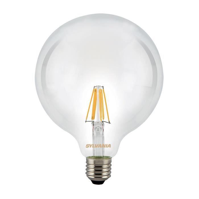 SYLVANIA Ampoule LED à filament Toledo RT G120 E27 7,5W équivalence 75W