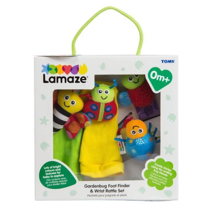 TOMY Lamaze - L27634 - Coffret Hochets pour poignets et pieds - Hochets - Puériculture