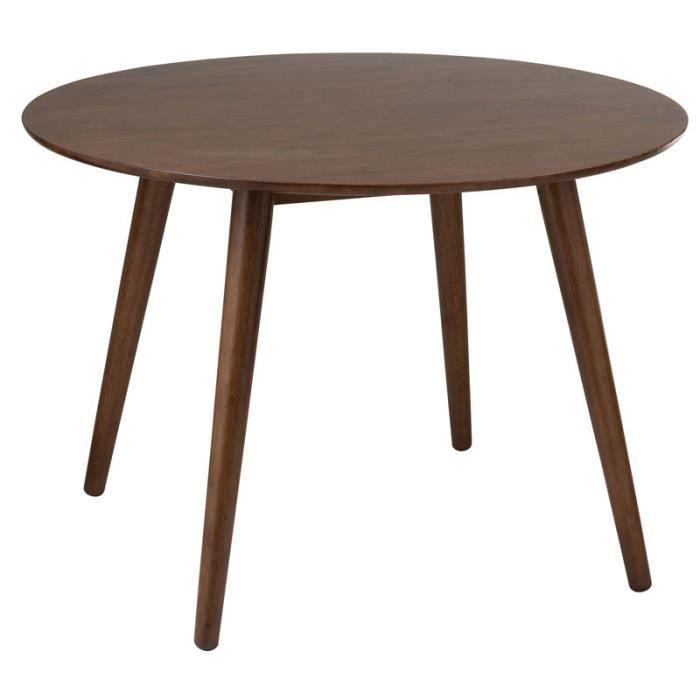Table de repas ronde Bois marron - MORTSEL - L 106.7 x l 106.7 x H 75