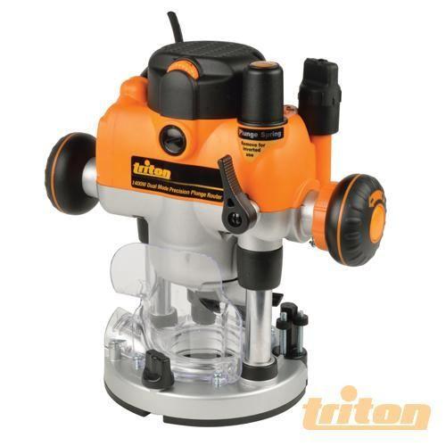 TRITON Défonceuse de précision bi-mode plongeante - 1 400 W