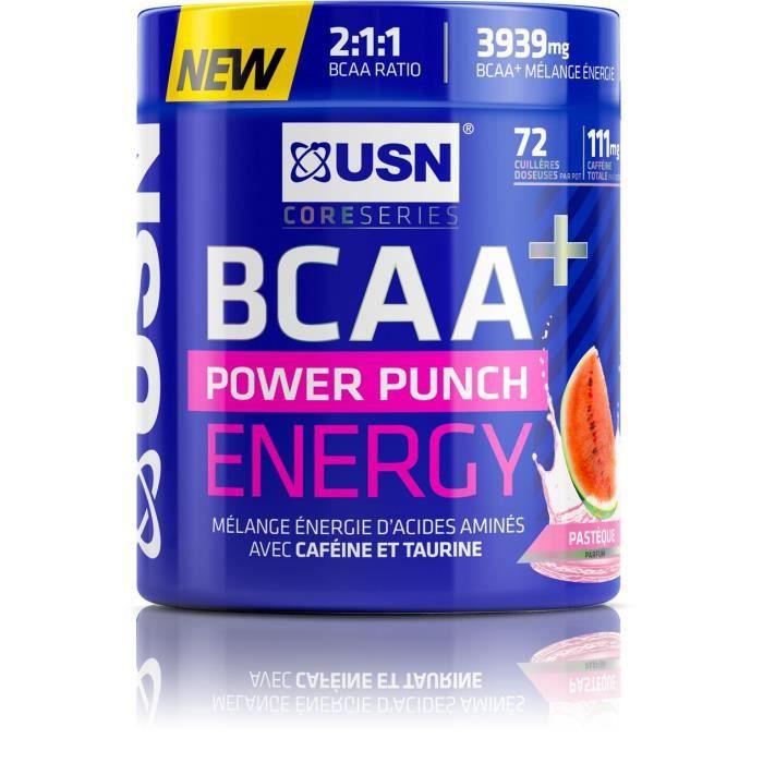 USN Boisson BCAA Power Punch Energy - Pastèque - 400 g