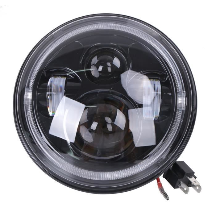 led phare rond moto 7 pour harley davidson atv motorcycle. Black Bedroom Furniture Sets. Home Design Ideas