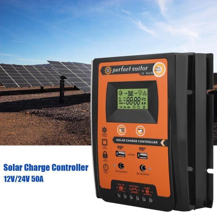 10 A Dual Batterie Panneau Solaire Charge Contrôleur//Régulateur avec Affichage LCD//Compteur