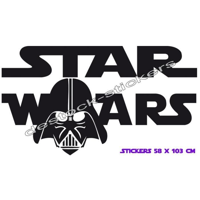 stickers autocollant star wars dark vador 103 cm achat