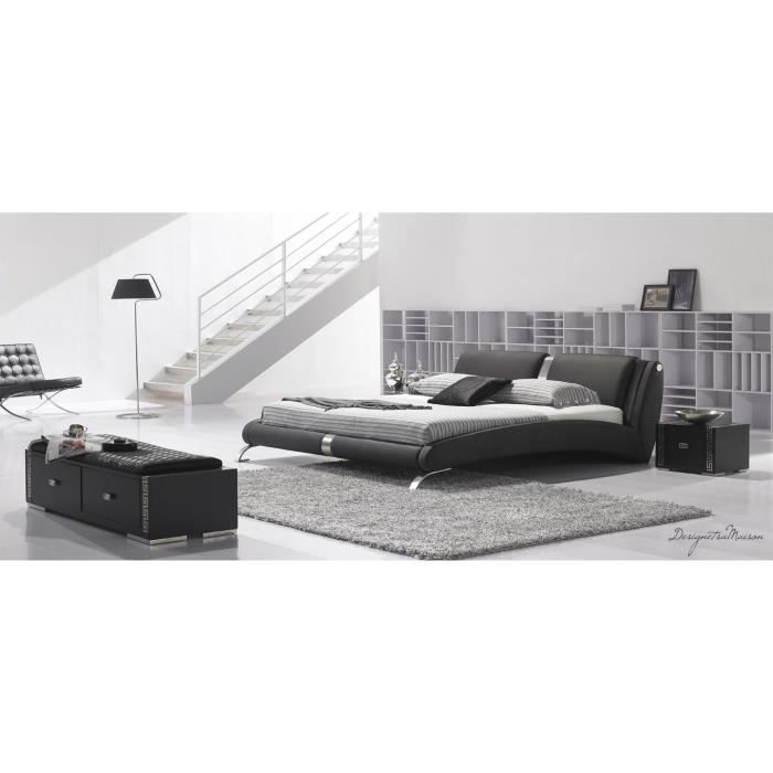 lit avec sommier 160x200 maison design. Black Bedroom Furniture Sets. Home Design Ideas