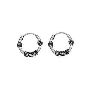 boucles d 39 oreilles argent 925 cr ole tribal patin e diam 15 mm achat vente boucle d 39 oreille. Black Bedroom Furniture Sets. Home Design Ideas