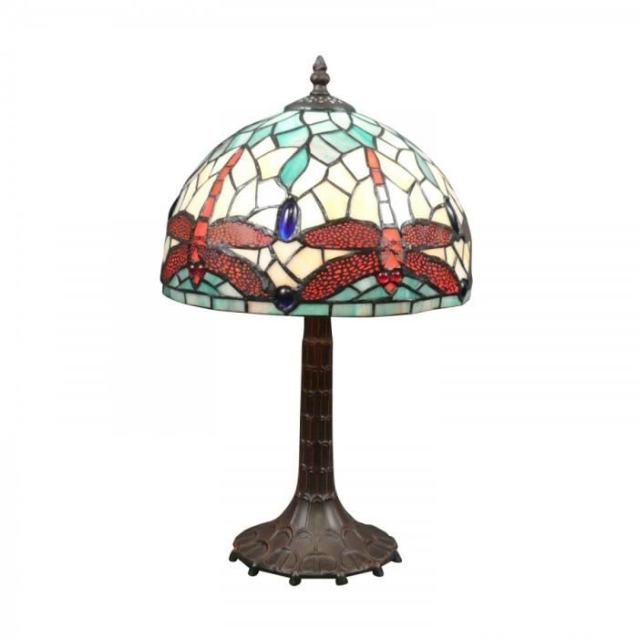 lampe tiffany libellules art nouveau achat vente lampe tiffany libellules art cdiscount. Black Bedroom Furniture Sets. Home Design Ideas