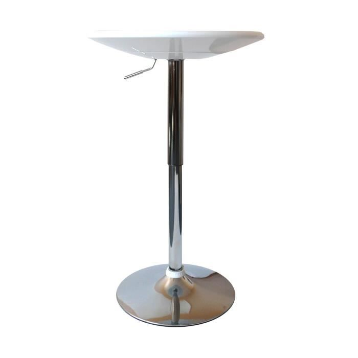 Table de bar city r glable en hauteur blanche achat for Achat table bar