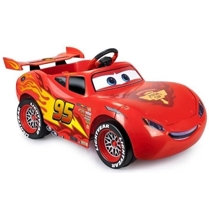VOITURE ELECTRIQUE ENFANT FEBER - Cars Flash McQueen - Voiture électrique Di